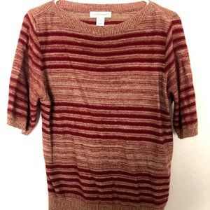 Christopher & Banks red striped acrylic top size M